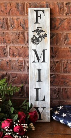 Are you looking for something that is one of a kind, original piece of artwork for your home or a gift for a usmc family. Ega wall hanging family sign for military Military Crafts, Military Signs, Military Party, Military Spouse, Military Life, Military Home Decor, Military Retirement, Marines Girlfriend, Navy Girlfriend