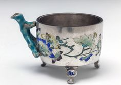 Chinese Cup -  early 17th century Silver, enamel, The State Hermitage Museum, St Petersburg