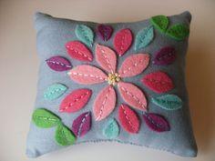 felt applique pillow
