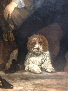 Oh, and a dog. also from militia portrait by Bartholomeus van der Helst, 1639.