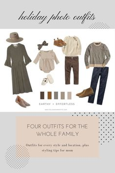 Ultimate Family Holiday Picture Outfits for every location and style