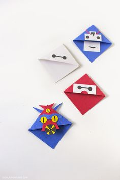 How to Make a Corner Bookmark // Big Hero 6 Movie Characters » Local Adventurer >> Las Vegas Travel Blog