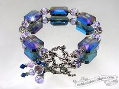 Sapphire Dream blue purple Bracelet crystal  by OohlalaBeadtique, $22.00 #gift #fashion #bracelet #jewelry #jewellery #blue #purple #crystal #gifts #trends #trendy