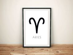 Wall Art. Printable Wall Art. Home Decor. Minimalist Wall Art. Aries Sign Printable. Black and White. Modern Wall Art. Instant Download. by PersonalEpiphany on Etsy