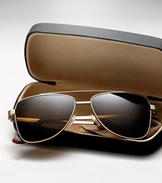 Fancy - R.A.B. Gold Sunglasses by Graz