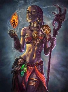 The Voodoo Priestess Awaits- like the belt with the skull African Mythology, African Goddess, Warrior Princess, Orishas Yoruba, Voodoo Priestess, Voodoo Hoodoo, Warrior Spirit, Gods And Goddesses, Black People