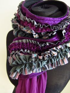 Womens Upcycled Clothing  Ruffle Diva Boa by GarageCoutureClothes, $60.00