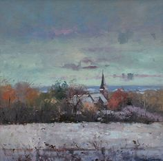 Tina MORGAN-Winter Wonderland  a paintings by British artist at  www.redraggallery.co.uk