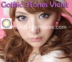 Gothic 3 Tones - Violet color contact lens. | Shop @ ContactLensHouse.com