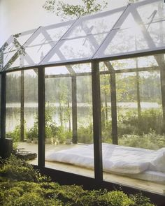 Taken from one of our #FoundINBED titles; Rock The Shack, this incredible glasshouse bedroom is literally the stuff of dreams.  See more at inbedstore.com