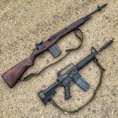 M14 vs XM-177E2 (early M4 layout)