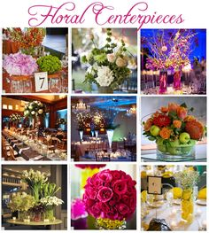 beautiful wedding floral centerpieces
