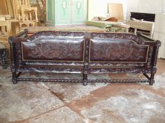 spanish mission antique leather chair - Google Search