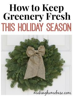 How to Keep Holiday Greenery Fresh all season!