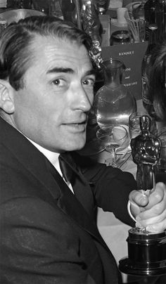 Gregory Peck with his 1962 Oscar for Best Actor for his role as Atticus Finch in To Kill a Mockingbird