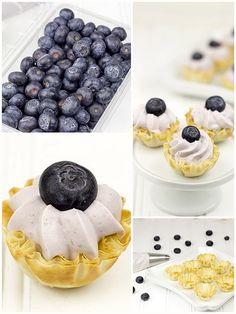 No Bake Blueberry Cheesecake Bites are the bite-sized answer to dessert you've been searching for! This easy no bake cheesecake recipe will give you the perfect, bring-along treat for any holiday or party that requires food. No Bake Blueberry Cheesecake, Cheesecake Bites, Blueberry Recipes, Yummy Treats, Sweet Treats, Yummy Food, Cheescake Recipe, Bite Size Desserts, Cupcakes