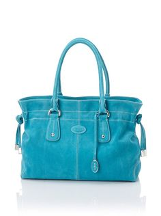 Tod's Women's Small Draw-Top Satchel, Aqua at MYHABIT