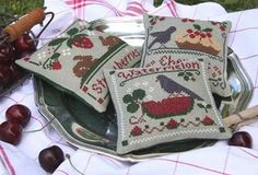 Lovely Little House Needlework pillow stitched by Eles