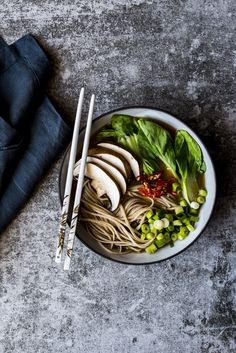 Bone Broth Ramen - my interpretation of ramen with a nourishing and delicious 24 hour cooked bone broth with noodles and veggies.