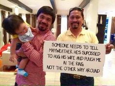 Manny Pacquaiomakes fun ofFloyd Mayweather in new photo - https://www.nollywoodfreaks.com/manny-pacquaio-makes-fun-of-floyd-mayweather-in-new-photo/