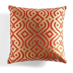 For the David Bromstad Kashmir Modern Laser Pillow, inspiration was drawn from the region of India home to exquisite prints and generations of textile    experts. Our crisp, geometric pattern has eye-catching color and harmonious symmetry, softened by the pillow's plump feather fill.            Large, square pillow with a colorful geometric print                A contemporary look that pays homage to historic Indian designs                Cover is 60% polyester, 40% polyurethane         ...