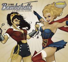A 2015 Wall Calendar Featuring Female DC Comics Characters As Pin-Up Girls - DesignTAXI.com