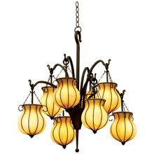 View the Kalco 5138 8 Light Chandelier from the Mardi Gras Collection at LightingDirect.com. For Master Bath in flambeaux glass