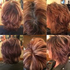 Before's on top after on bottoms ... Fringe salon Wichita