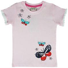 Honey & Clover Kidswear / Children's Apparel | Butterflies Tee by Little Bitty
