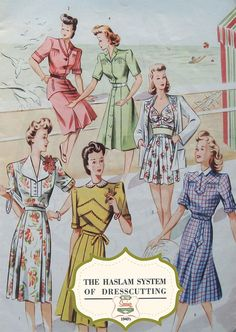 The Haslam System of Dressmaking No. 16 1940's  by MyVintageWish