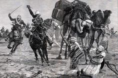 The 19th Hussars capturing supplies during the desert march