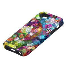 Colorful Romantic Vintage Floral Pattern casemate cases by artOnWear Cool Iphone 5 Cases, Vintage Iphone Cases, 5s Cases, Iphone Case Covers, Vintage Flowers, Vintage Floral, Electronic Gifts For Men, Flower Collage, Cute Gifts