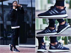 Adidas Ultra Boost On Feet Black