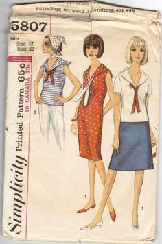 60's sailor tops and dresses.