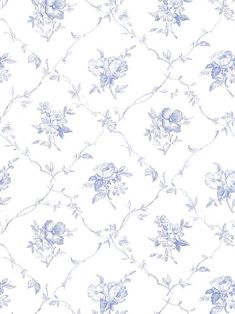 Beautiful blue and white wallpaper. Type: Wallpaper Pattern Number: Book Name: English Country Prints Page 186 Decoupage Vintage, Art Vintage, Decoupage Paper, Vintage Paper, Doll House Wallpaper, I Wallpaper, Flower Wallpaper, Pattern Wallpaper, Wallpaper Backgrounds