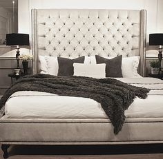 Add luxury to your bedroom with queen bed heads - Decorating ideas Cama King, Cama Queen, Diy King Headboard, Headboards For Beds, King Beds, Queen Beds, Camas King Size, Bed Head Styling, Queen Room