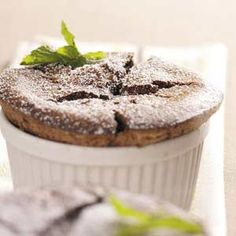 Chocolate Mint Souffles Recipe from Taste of Home -- shared by Ruth Lee of Troy, Ontario