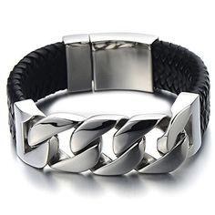 Geflochtenes Leder-Armband für Herren auf Amazon Deutschland