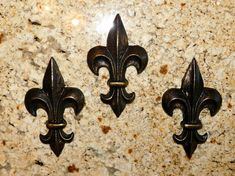 Fleur de Lis Wall Plaques Wall Decor Old World Medieval