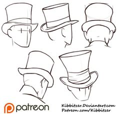 Top Hats Reference Sheet by Kibbitzer.deviantart.com on @DeviantArt: