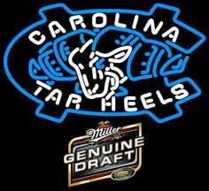 Compare prices on North Carolina Tar Heels Neon Lights from top online fan gear retailers. Save money when buying the neon sign of your favorite sports team. Neon Signs For Sale, Neon Beer Signs, Custom Neon Signs, Foto Gif, Sports Signs, Sign Lighting, Tar Heels, Bud Light, Coors Light