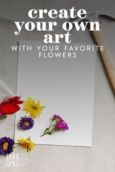 This easy pounding technique makes it so easy to transfer bright flower blooms onto watercolor paper. We love this technique to create custom art decor. Learn how to make this easy pounded flower art. #poundedflowerart #preserveflowers #flowercrafts #diy #craftideas #bhg Creative Crafts, Fun Crafts, Paper Crafts, Bright Flowers, Fresh Flowers, Flower Crafts, Flower Art, How To Preserve Flowers, Custom Art