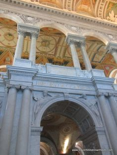 DC – Library of Congress - The most beautiful building in Washington, D.C.  from Travel50StateswithKids.com