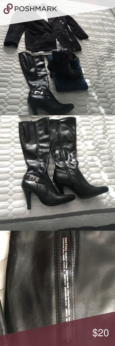 FINAL PRICE 😍 ANY TIME BOOTS! BLACK BOOTS! Good SHAPE!   Little spots on toes shown pic 4 nothing to crazy. 🤔BUNDLE !! Buchman Dana Shoes Heeled Boots