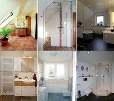 Vintage Beispiele f r sch ne B der im Dachgeschoss Alles aus einer Hand Schauen Sie sich die Ideen f r die Badezimmer mit Dachschr ge an