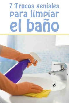 7 Trucos geniales para limpiar el baño #baño #inodoro #limpieza