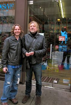 Robert Plant with fan Quinn Haven
