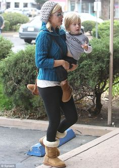 Tori Spelling & son