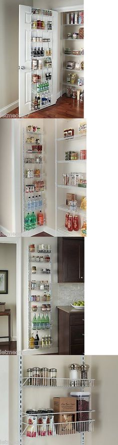 Racks And Holders 46283 Adjustable Closet Organizer Wire Rack Holder Over Door Pantry Storage Wall