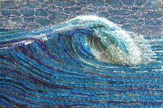 My Wave mosaic by Inge Gardner